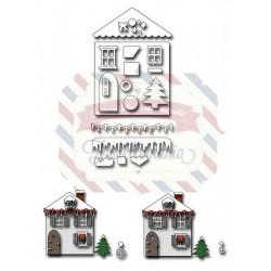 Fustella metallica Christmas House