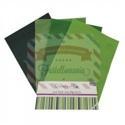 Pannolenci Dovecraft Greens A4 8 fogli 4 colori