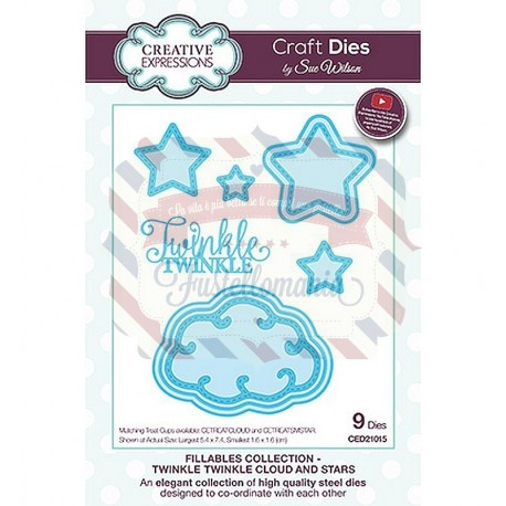 Fustella metallica Creative Expressions Twinkle Twinkle Cloud and Stars