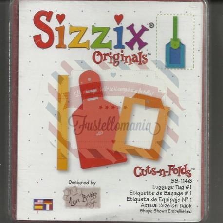 Fustella Sizzix Bigz Etichetta bagaglio Luggage tag 1