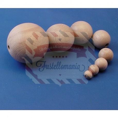Palline di legno 8 mm. 100 pezzi