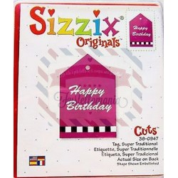 Fustella Sizzix originals Tag super traditional
