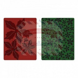 Sizzix Texture fades embossing 2pk textured poinsettia