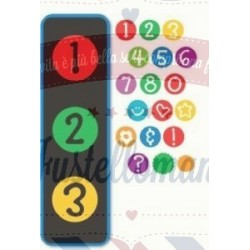 Fustella Sizzix Doodle Dots Numbers and more set