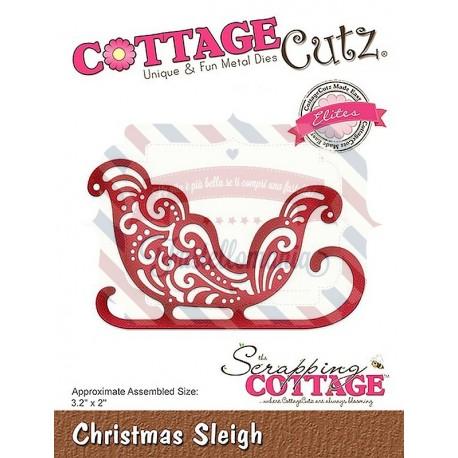Fustella metallica Cottage Cutz Christmas Sleigh (Elites)