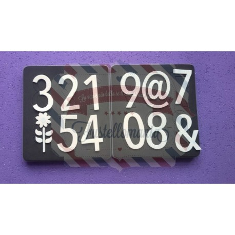 Fustella Sizzix Stampin Up Numeri simple numbers