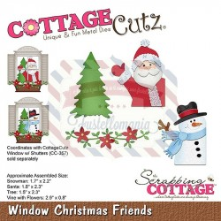 Fustella metallica Cottage Cutz Window Christmas Friends