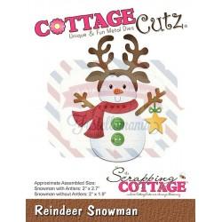 Fustella metallica Cottage Cutz Reindeer Snowman