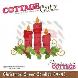 Fustella metallica Cottage Cutz Christmas Cheer Candles