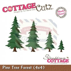 Fustella metallica Cottage Cutz Pine Tree Forest