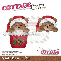 Fustella metallica Cottage Cutz Santa Bear In Pot