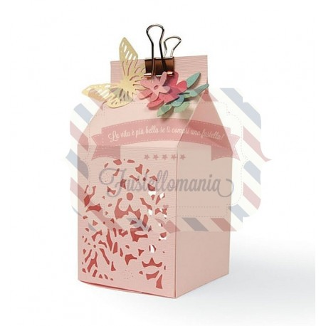 Fustella Sizzix Thinlits Floral Favour Box